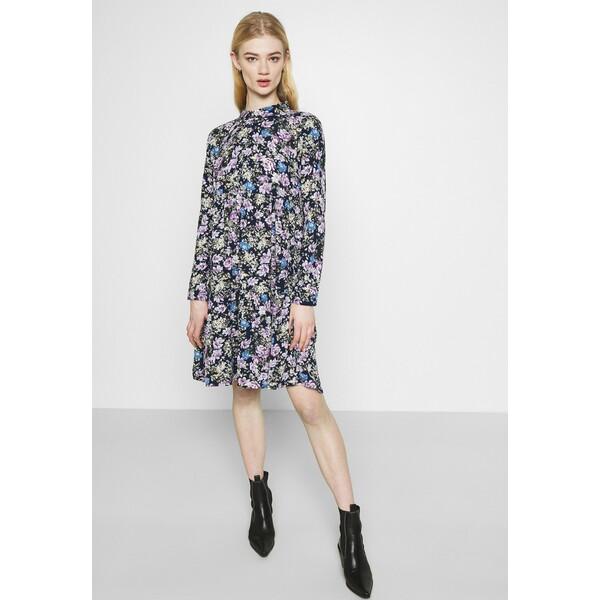 JDYPIPER Sukienka koszulowa black iris/purple/parisian blue JY121C0FQ