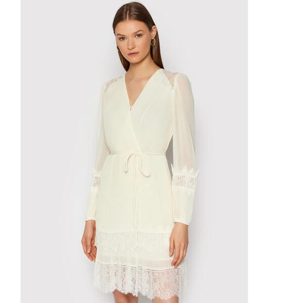 TWINSET Sukienka koktajlowa 212TT2392 Beżowy Regular Fit