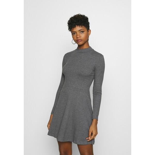 Even&Odd Sukienka z dżerseju dark grey EV421C11W