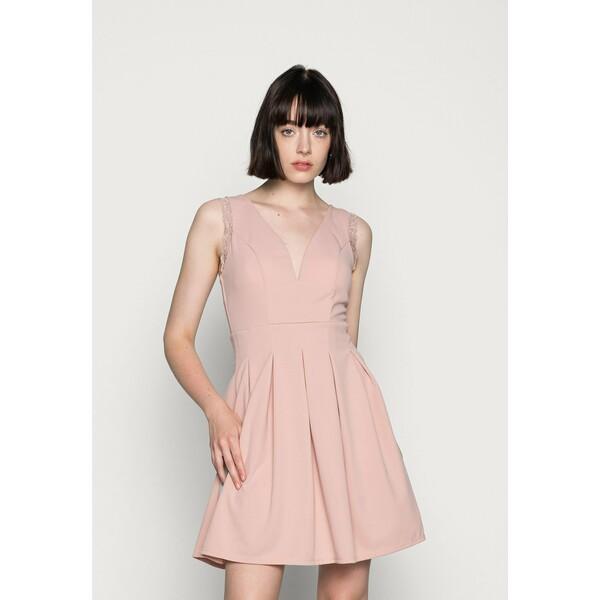 WAL G. SKATER DRESS Sukienka z dżerseju blush pink WG021C0OX