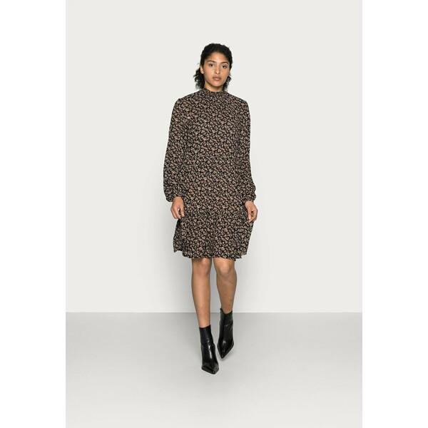 Kaffe SALLY AMBER DRESS Sukienka letnia black/brown/ bedo petit KA321C0P2