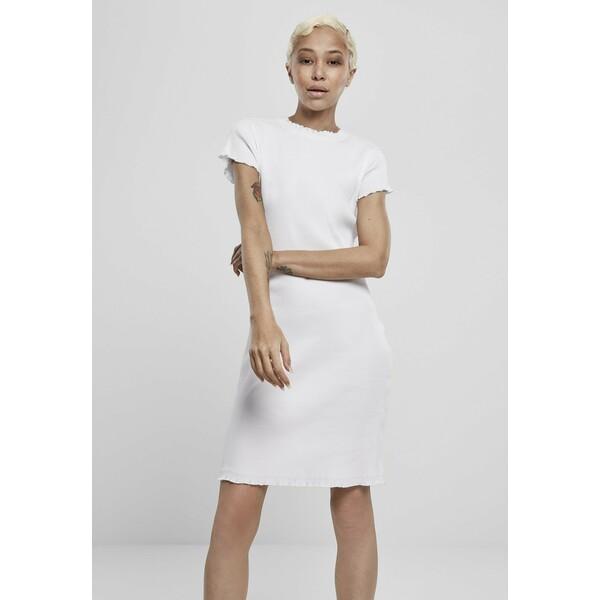 Urban Classics Sukienka etui white UR621C01N