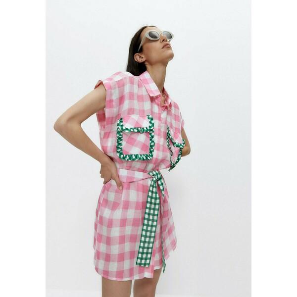 Uterqüe MIT VICHYKAROS Sukienka koszulowa pink UT421C05M