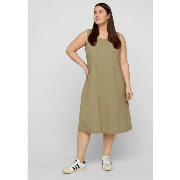 Zizzi Sukienka z dżerseju green Z1721C122