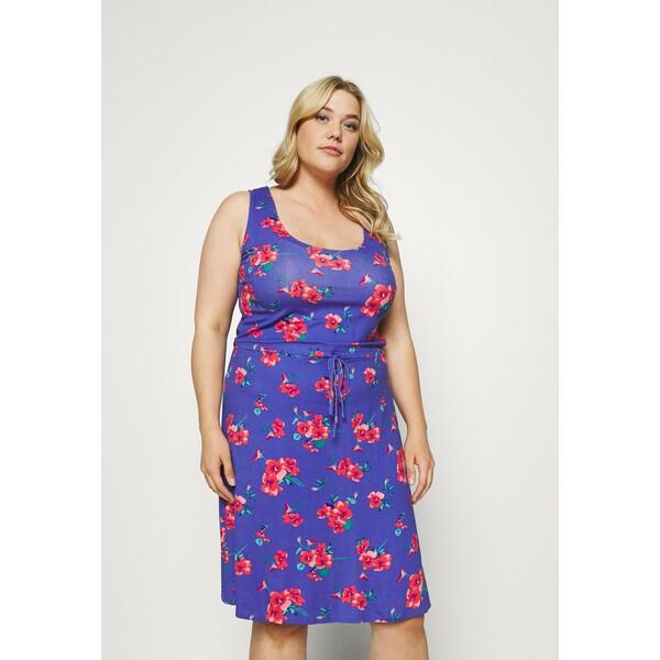 Simply Be VEST SHORT DRESS Sukienka z dżerseju blue SIE21C07V