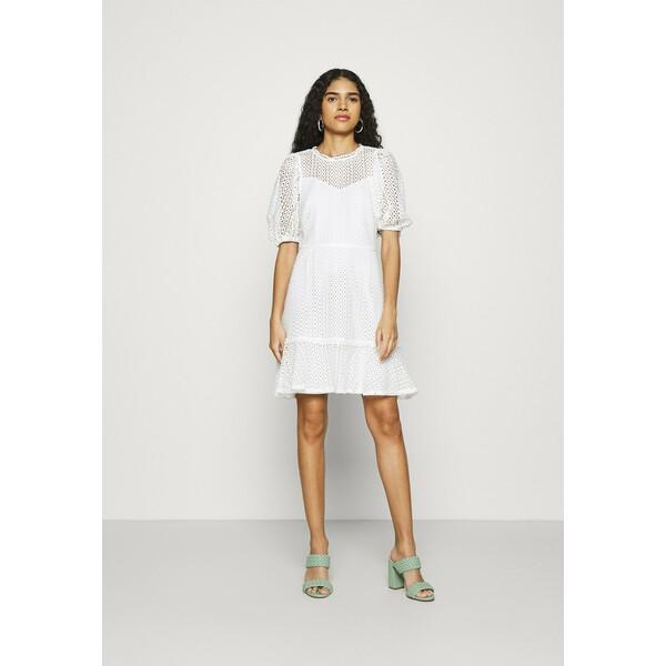 Dorothy Perkins FIT AND FLARE DRESS Sukienka letnia white DP521C2NA
