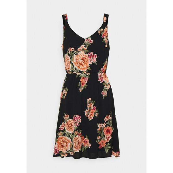 ONLY Petite ONLKARMEN DRESS Sukienka letnia black/orange ON321C1RS