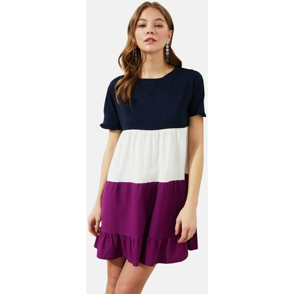 Trendyol Sukienka z dżerseju navy blue TRU21C08U