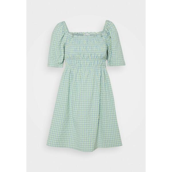 VILA PETITE SMOCK SHORT DRESS Sukienka letnia ashley blue/sunlight VIP21C02Q