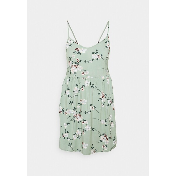 Pieces Petite PCBEAUTY STRAP TIE DRESS Sukienka letnia green milieu PIT21C025
