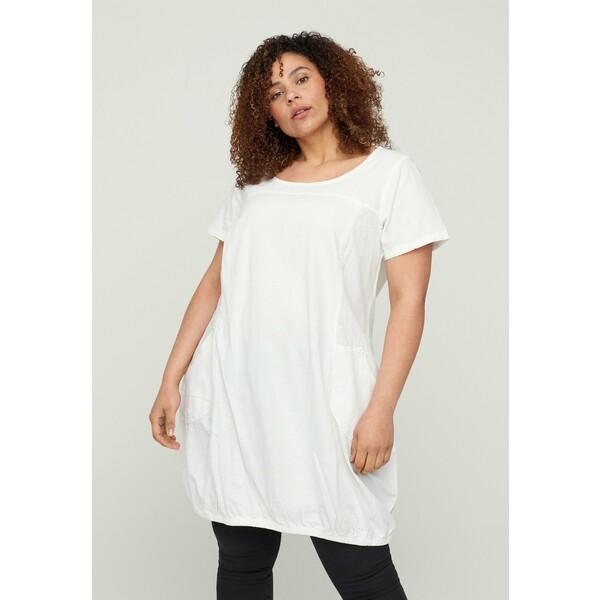 Zizzi Sukienka letnia white Z1721C0Y1