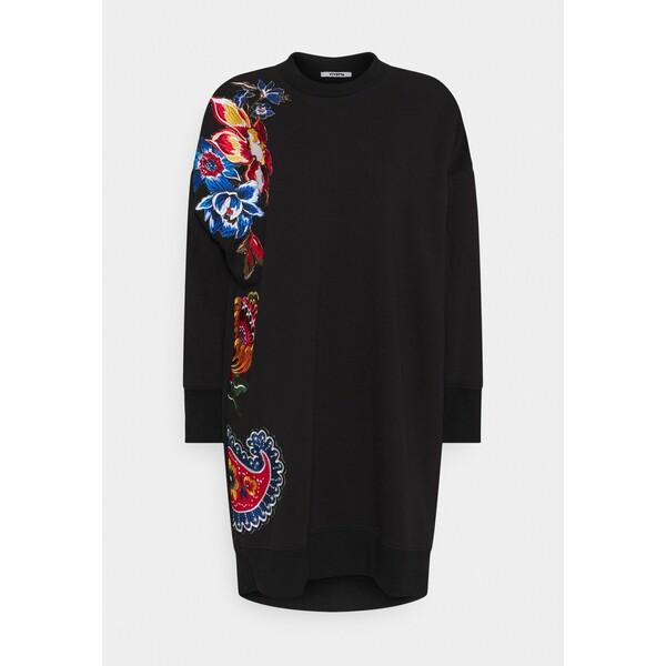 Vivetta EMBROIDERY DRESS Sukienka letnia black VIQ21C01M