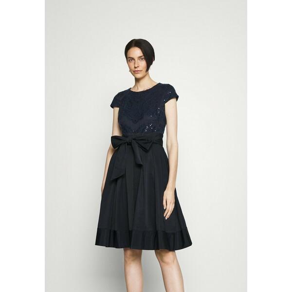 Lauren Ralph Lauren ZIARAH CAP SLEEVE DRESS Sukienka koktajlowa lighthouse navy L4221C188