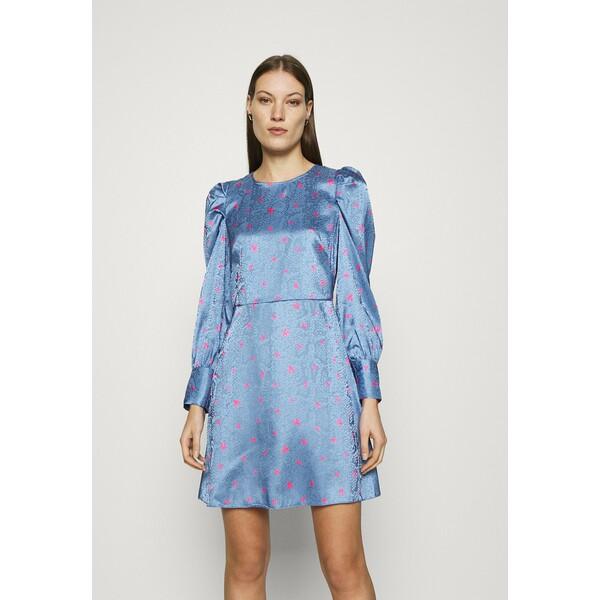Closet CLOSET PUFF SLEEVE MINI DRESS Sukienka letnia blue CL921C0RJ