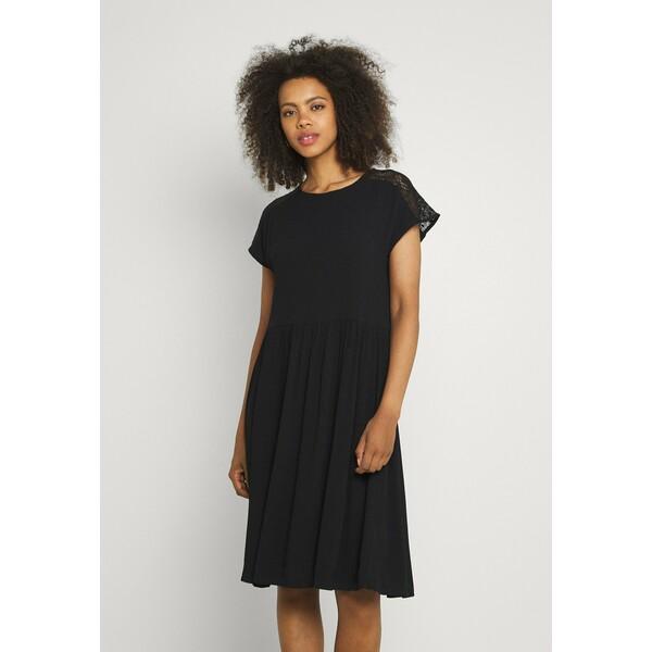 Vero Moda VMNANCY KNEE DRESS Sukienka letnia black VE121C2SZ
