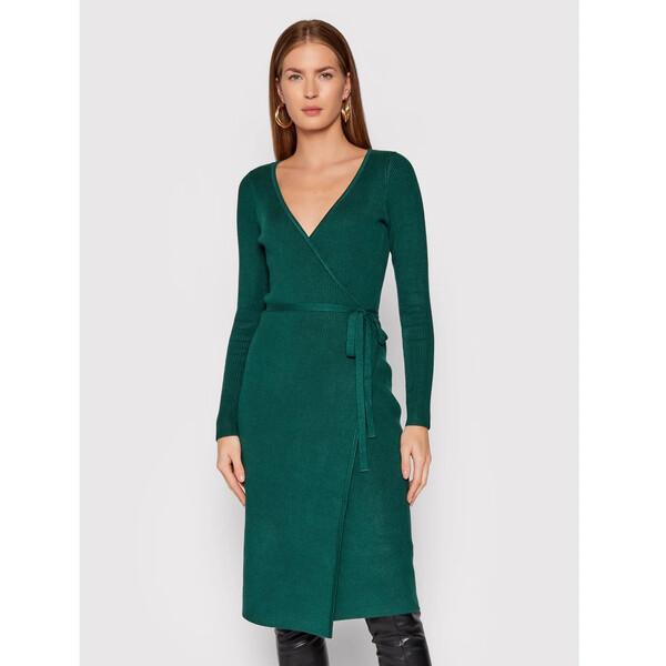 Guess Sukienka dzianinowa Everly W0RK51 R2BF3 Zielony Regular Fit