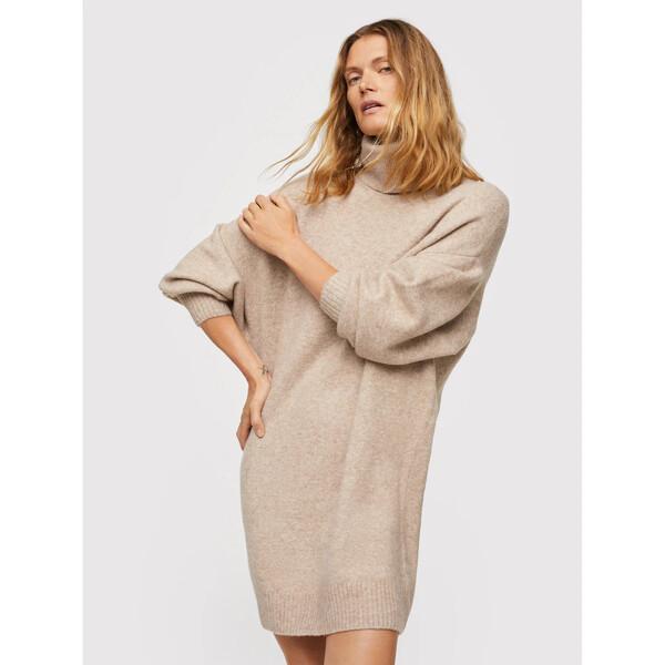 Mango Sukienka dzianinowa Taldora 17085922 Beżowy Regular Fit