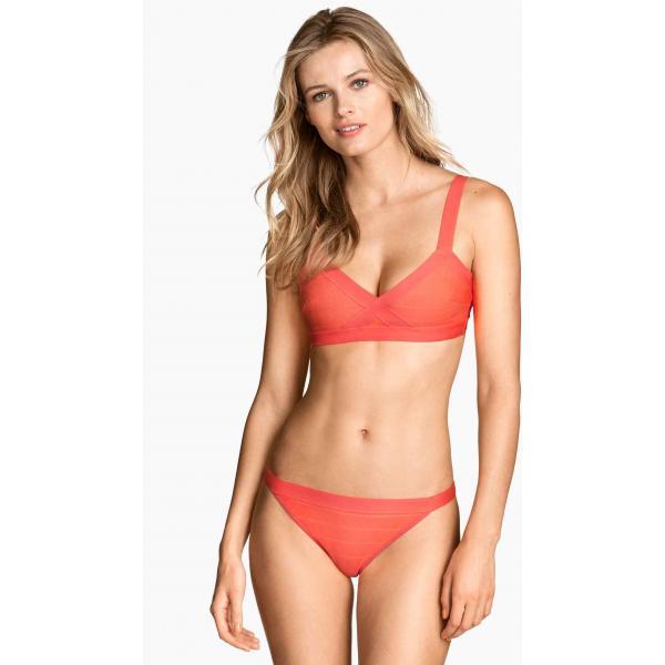 H&M Dół od kostiumu 0253063001 Neonowopomarańczowy