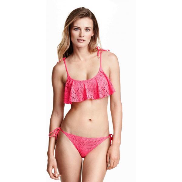 H&M Dół od kostiumu 0223283003 Neonoworóżowy