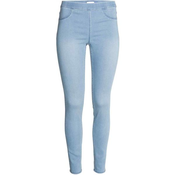 H&M Tregginsy superstretch 0356174049 Jasnoniebieski denim