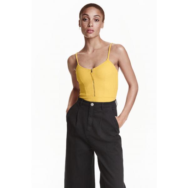 H&M Kostium kąpielowy 0372525003 Żółty
