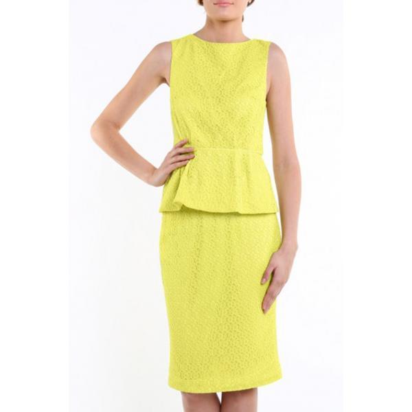 Tiffi Koronkowa spódnica limonkowa