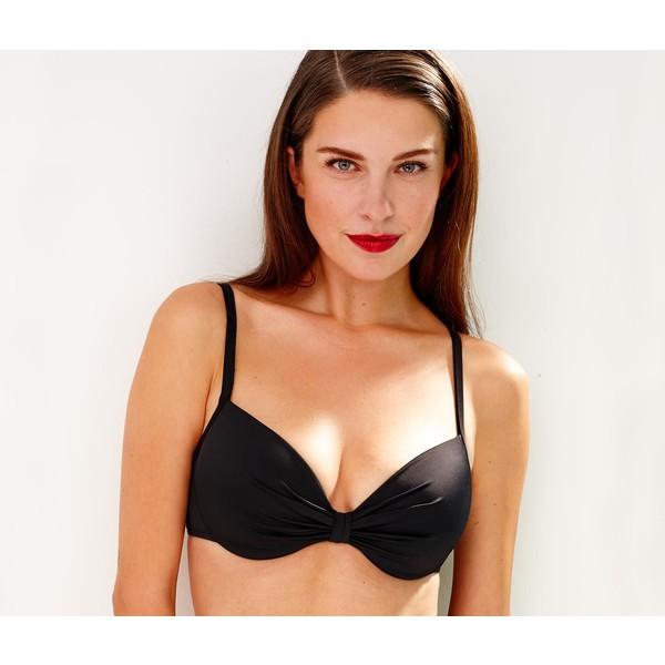 Tchibo Biustonosz od bikini, z modelowanymi miseczkami, czarny 400068108