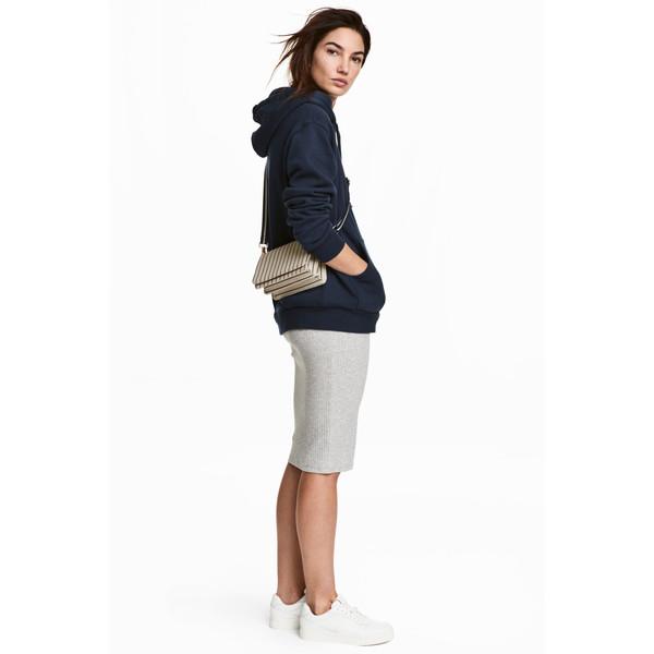 H&M Spódnica ołówkowa 0215922023 Jasnoszary melanż