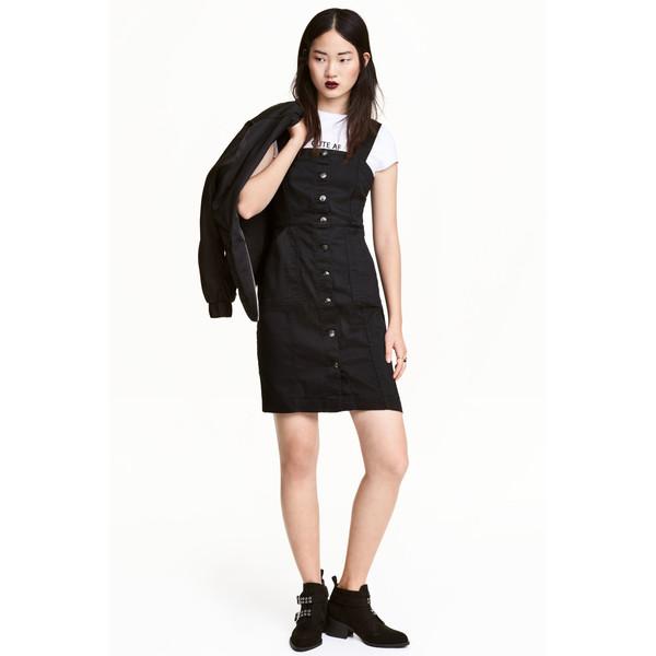 H&M Sukienka dżinsowa 0457336006 Czarny