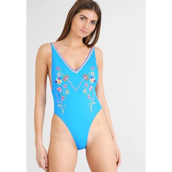 Topshop BRIGHT Kostium kąpielowy blue TP781G007