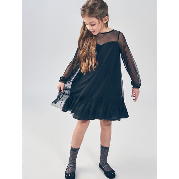 bc8d3b8ee0 Mohito Tiulowa sukienka z falbaną SY729-99X ...