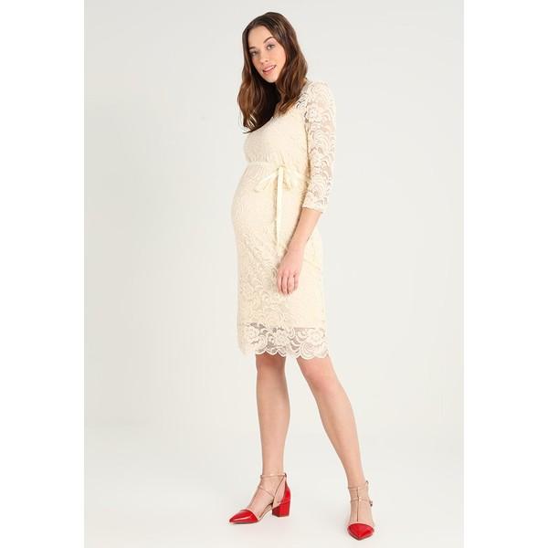 MAMALICIOUS MLMIVANE DRESS Sukienka koktajlowa buttercream M6429F0F7