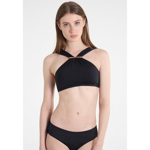 MICHAEL Michael Kors LOGO BAR HIGH NECK Góra od bikini black MK181J005