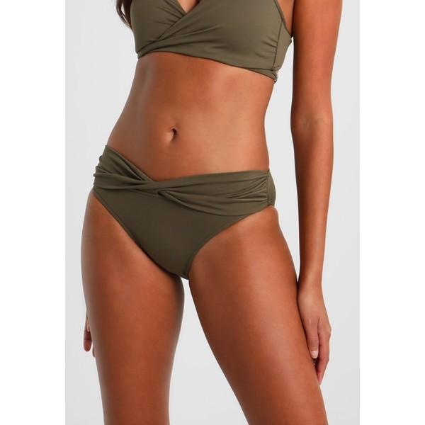 Seafolly TWIST BAND HIPSTER Dół od bikini dark olive S1951L01C