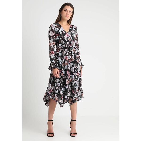 6c6b43eb59 Forever New FLORAL ELASTIC WAIST DRESS Długa sukienka black FOD21C00Q ...