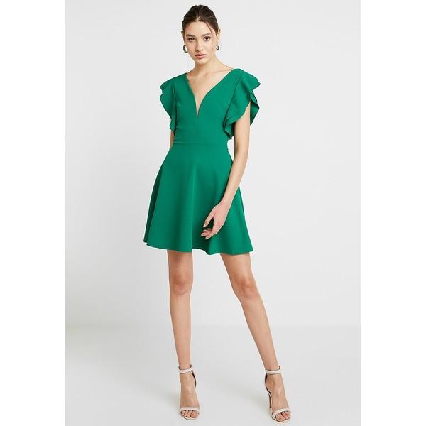 4d868ee07764bf WAL G. FRILL PLUNGE SKATER DRESS Sukienka z dżerseju green WG021C081 ...