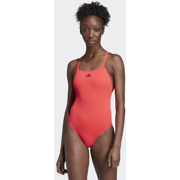 adidas Performance PRO LIGHT SOLID SWIMSUIT Kostium kąpielowy red AD581G03B