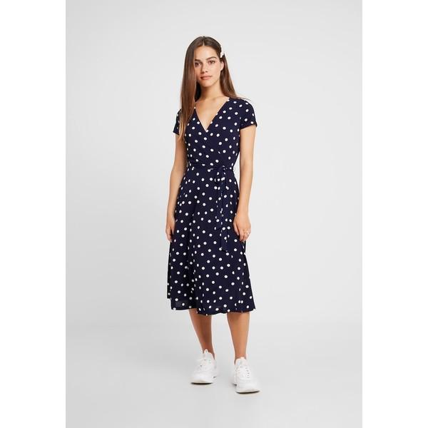 Wallis Petite SPOT WRAP DRESS Długa sukienka ink WP021C061