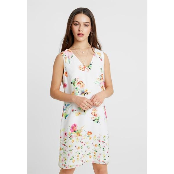 Wallis Petite FLORAL SHIFT DRESS EXCLUSIVE Sukienka letnia white WP021C05O